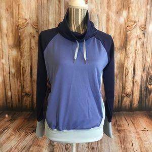 Marmot multi-toned cowl neck sweatshirt SZ S